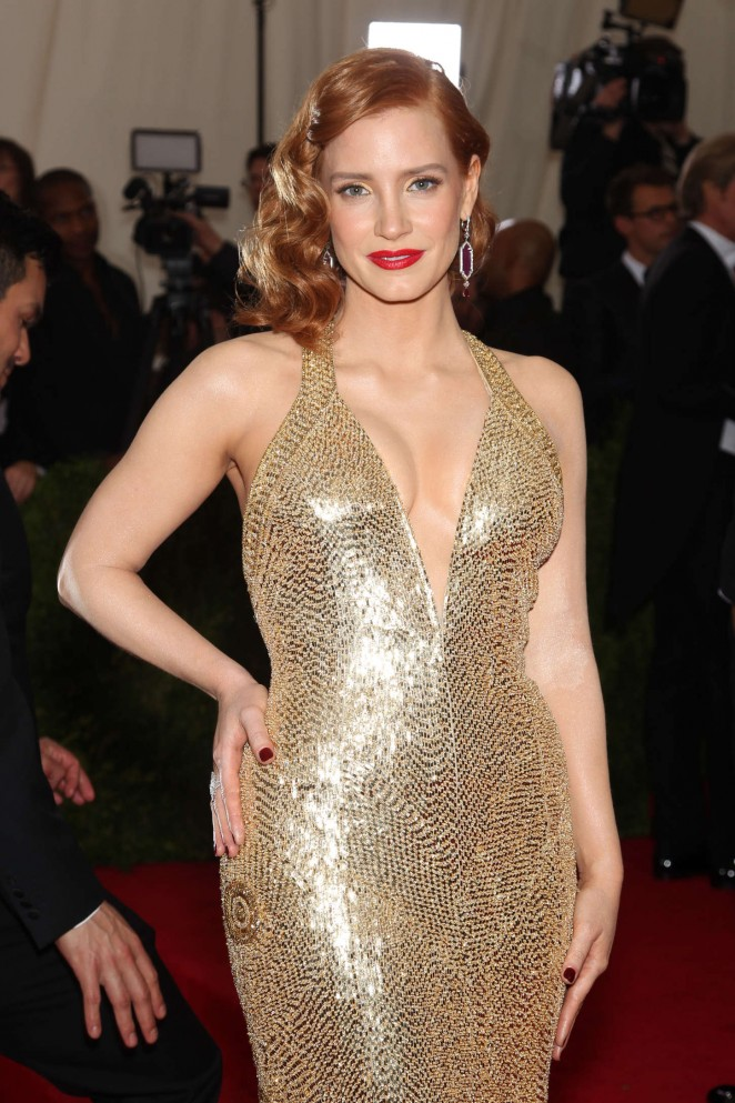 Jessica Chastain - 2015 Costume Institute Gala in NYC