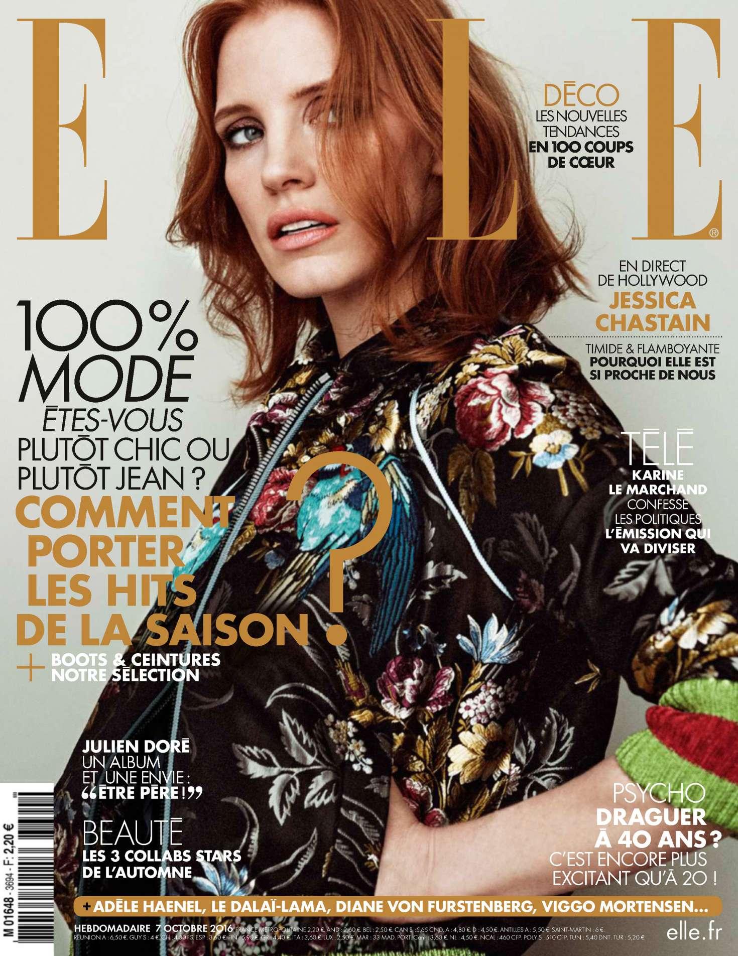 Jessica Chastain Elle France 2016 09 Gotceleb