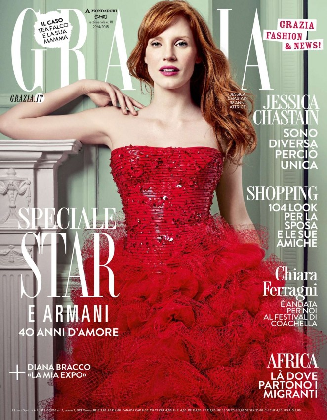 Jessica Chastain - Grazia Italy Magazine (April 2015)