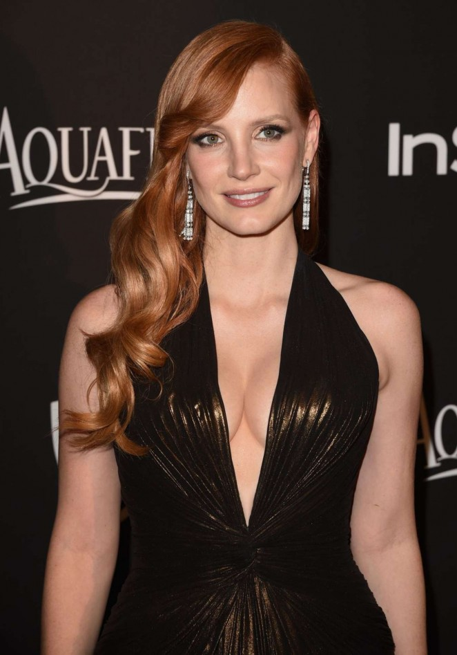 Jessica Chastain - InStyle And Warner Bros Golden Globes Party 2015 in Beverly Hills