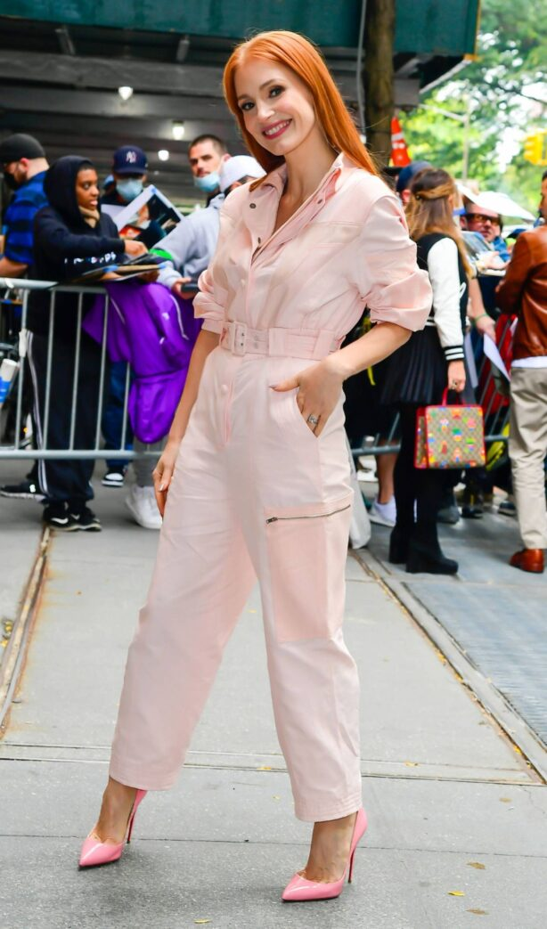 Jessica Chastain - is seen in Midtown - New York City