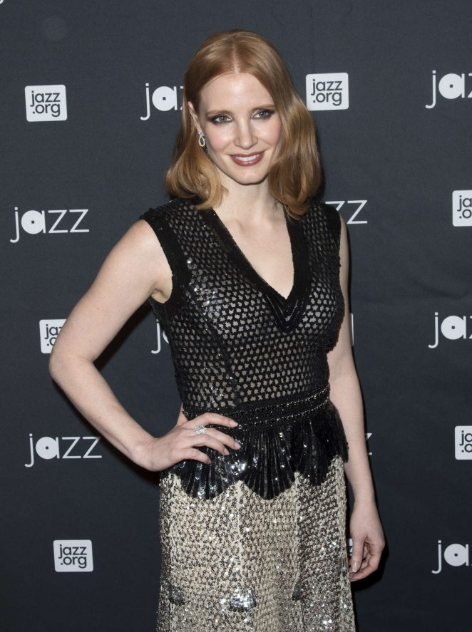 Jessica Chastain – Jazz at Lincoln Center 2016 Gala 'Jazz and Broadway' in NY