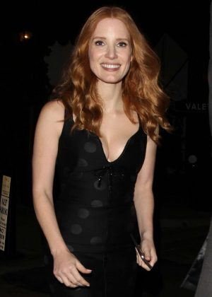 Jessica Chastain Leaves 'The Son' Afterparty in Hollywood