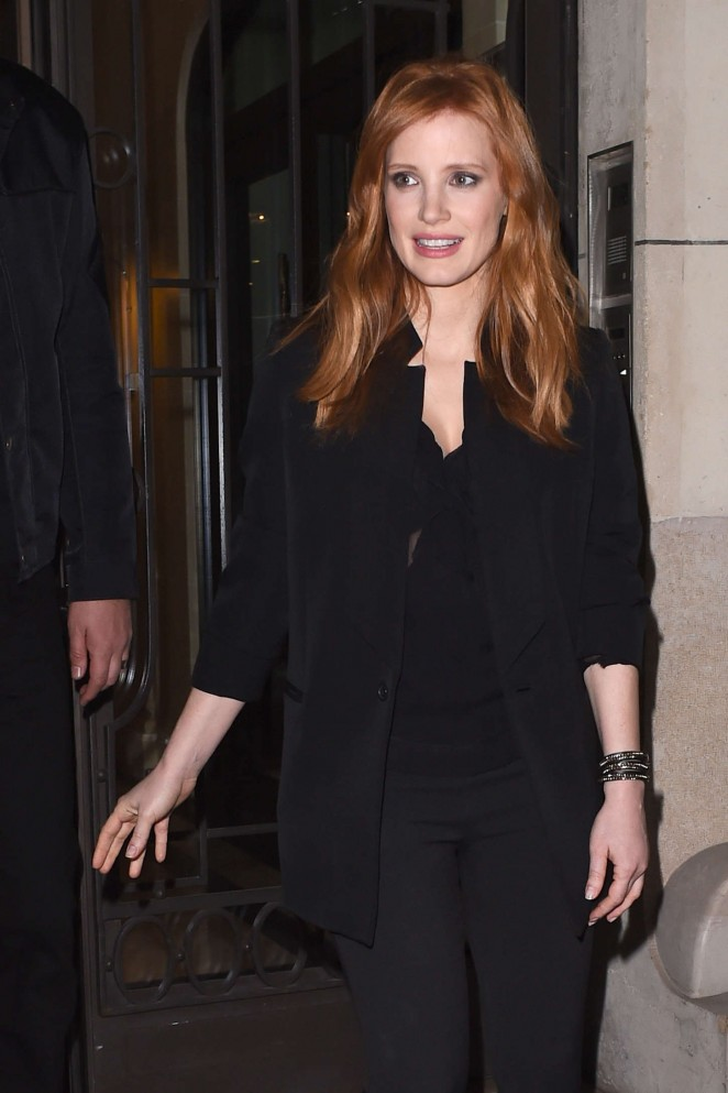 Jessica Chastain - Leaving her hotel in Paris