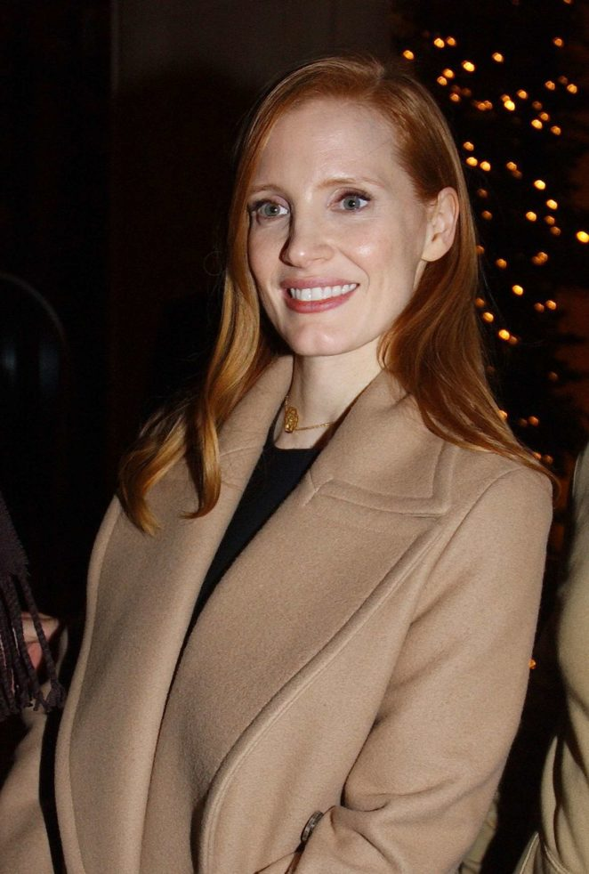 Jessica Chastain - Leaving the Royal Monceau Hotel in Paris