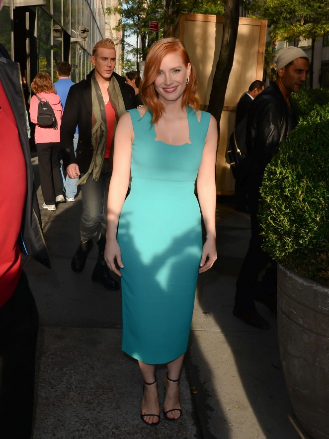 Jessica Chastain - Leaving The Today Show in New York