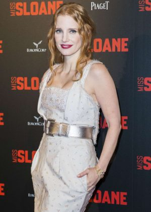 Jessica Chastain - 'Miss Sloane' Premiere in Paris