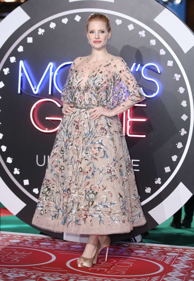 Jessica Chastain - 'Molly's Game' Premiere in London