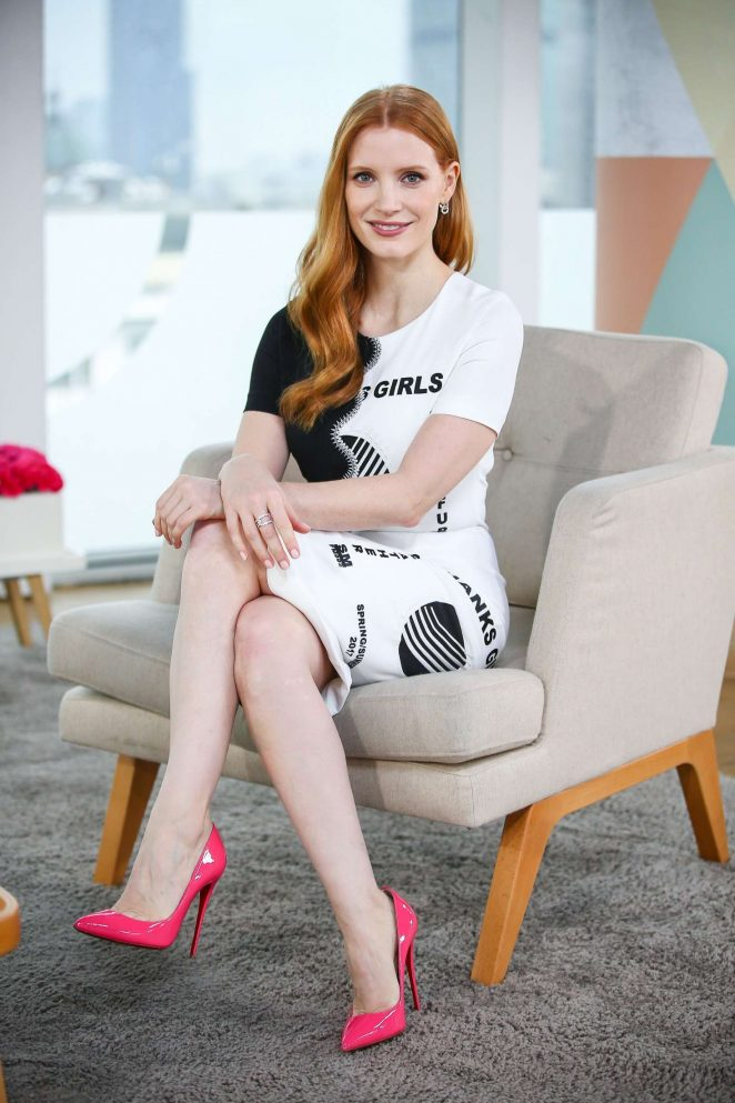 Jessica Chastain on 'Dzien Dobry TVN' TV show in Warsaw