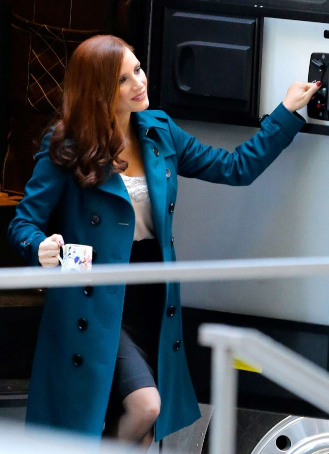 Jessica Chastain on 'Mollys Game' set in Toronto
