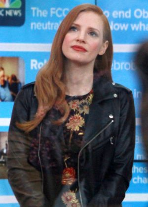 Jessica Chastain - On the set of the Today Show in New York City