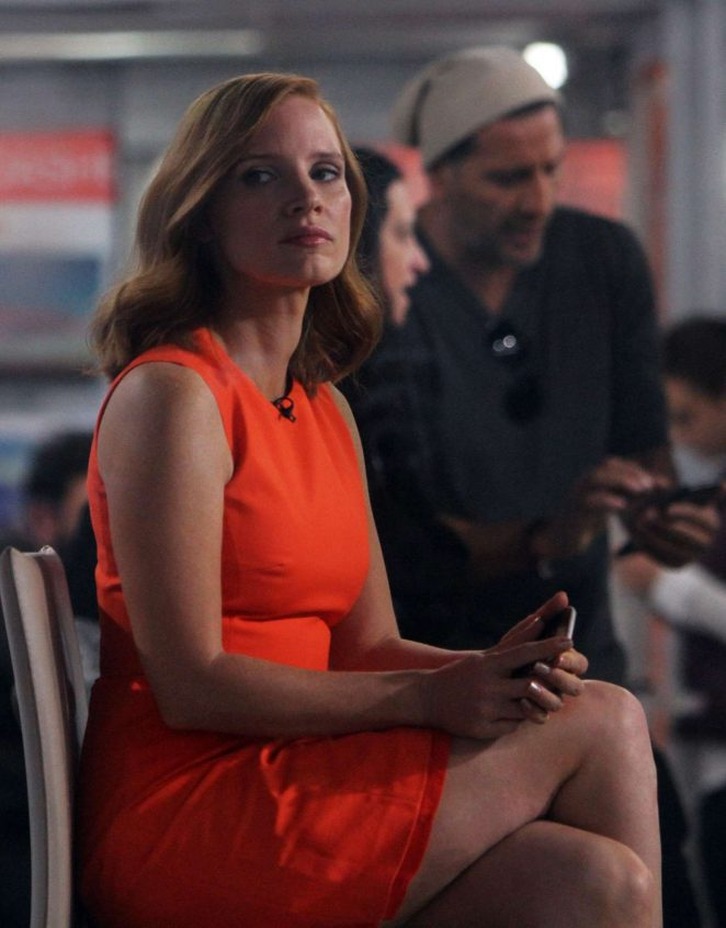 Jessica Chastain on 'The Today Show' in New York