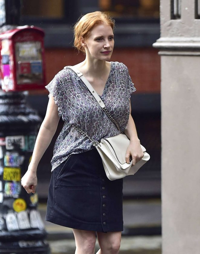 Jessica Chastain - Out and about in New York City