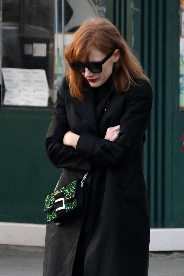 Jessica Chastain - Out for a walk in Venice