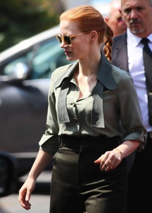 Jessica Chastain out in Cannes