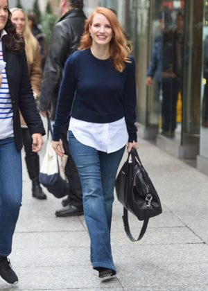 Jessica Chastain - Out in New York City