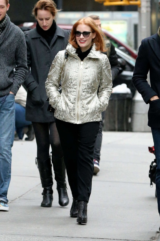 Jessica Chastain out in NYC