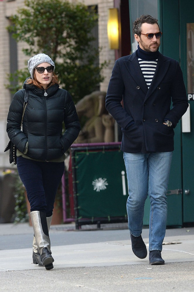 Jessica Chastain out in NYC -05