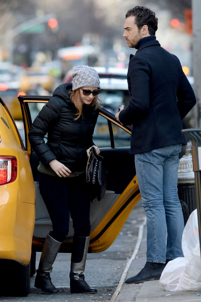 Jessica Chastain out in NYC -09