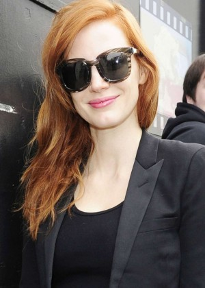 Jessica Chastain - Outside The Royal Monceau Hotel in Paris