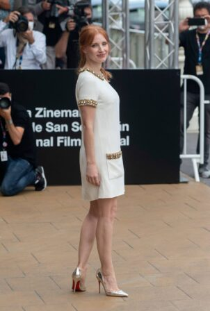 Jessica Chastain - Pictured at premiere of 'The Eyes of Tammy Faye' in San Sebastian