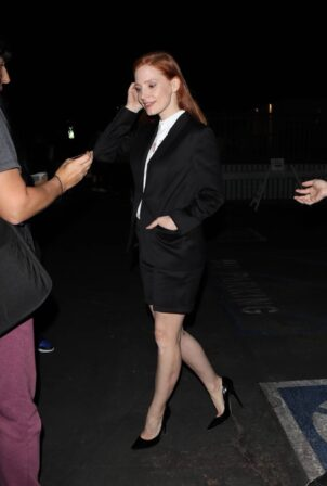 Jessica Chastain - Promotes her new film 'Scenes from a Marriage' in Hollywood