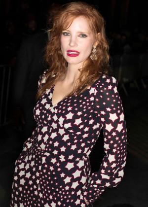 Jessica Chastain - Saint Laurent Fashion Show 2015 in Paris