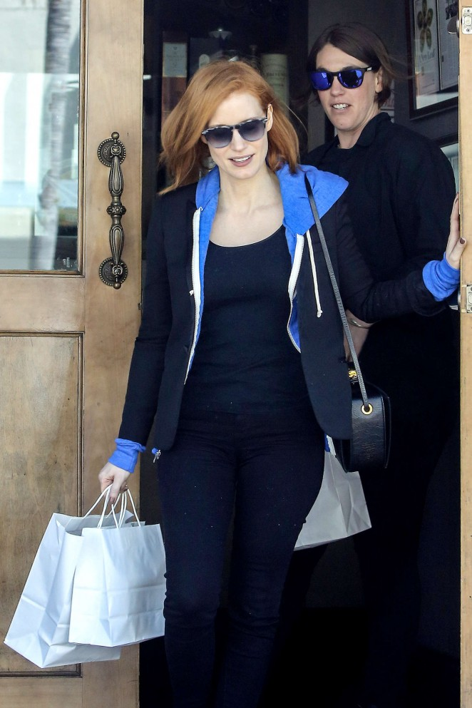 Jessica Chastain Shopping in West Hollywood