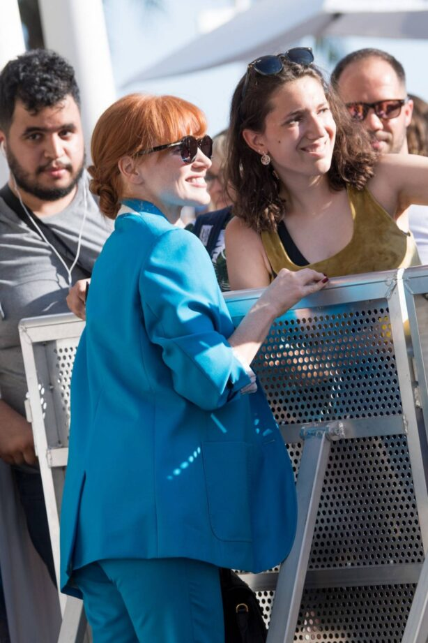 Jessica Chastain - spotted at the Martinez Hotel during the 74th Cannes Film Festival
