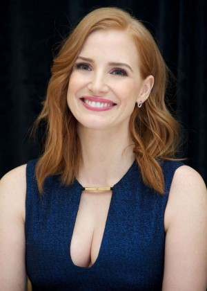Jessica Chastain - 'The Martian' Press Conference in New York City