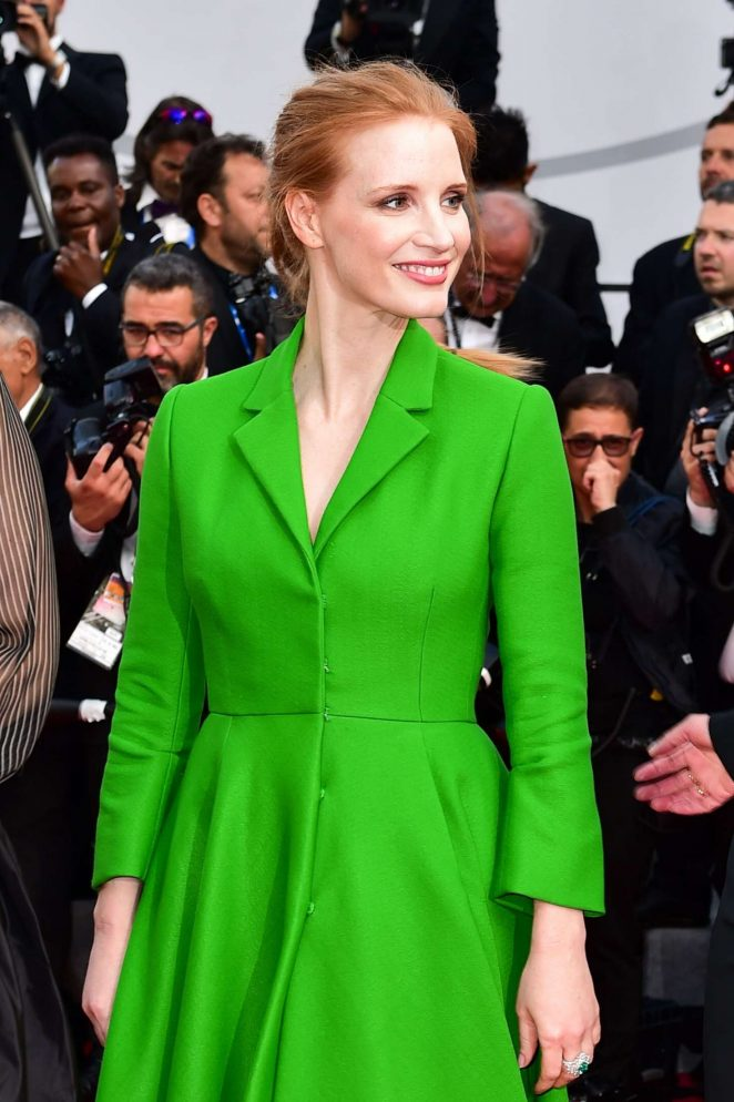 Jessica Chastain - 'The Meyerowitz Stories' Premiere at 70th Cannes Film Festival