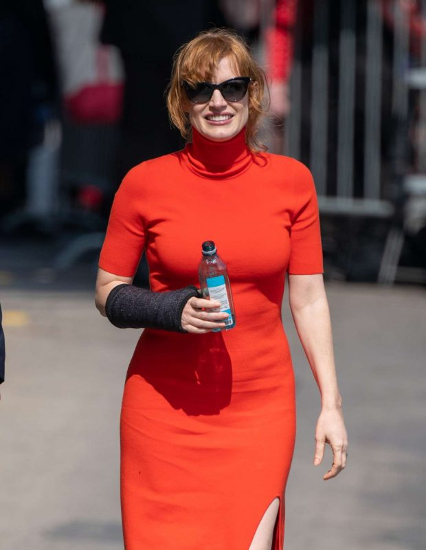 Jessica Chastain - Visits Jimmy Kimmel Live in Hollywood