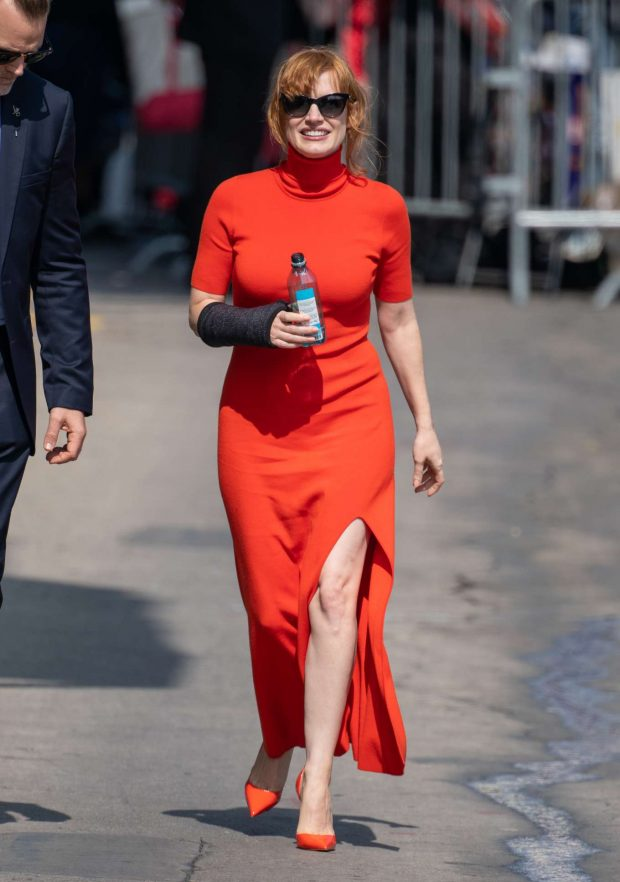 Jessica Chastain: Visits Jimmy Kimmel Live in Hollywood-02