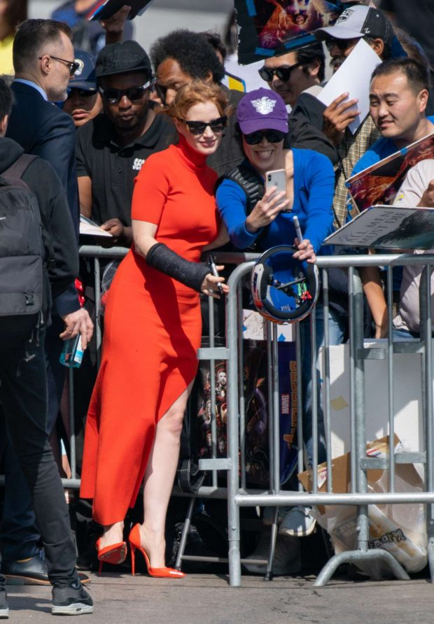 Jessica Chastain: Visits Jimmy Kimmel Live in Hollywood-16