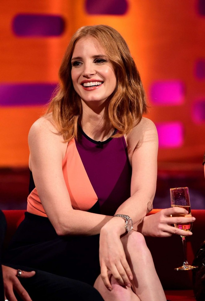 Jessica Chastain - Visits 'The Graham Norton Show' in London