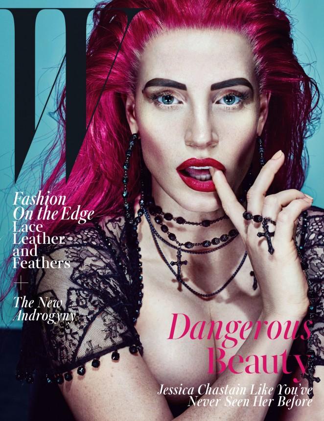 Jessica Chastain 2015 : Jessica Chastain: W Magazine 2015 -08