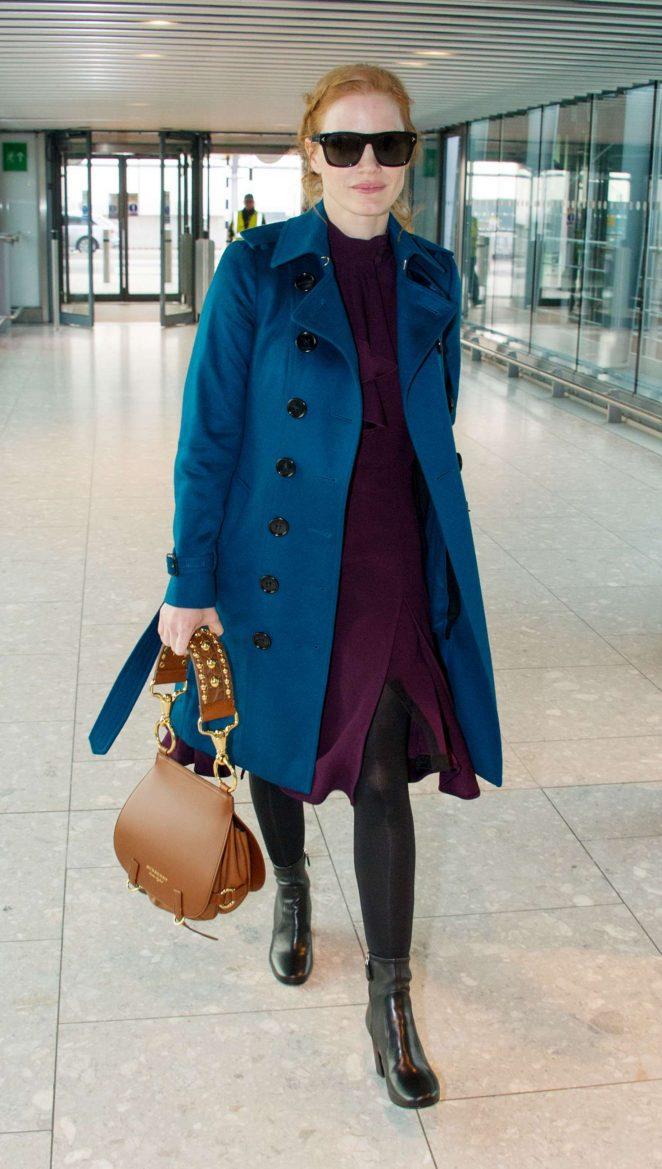 Jessica Chasten at Heathrow Airport in London