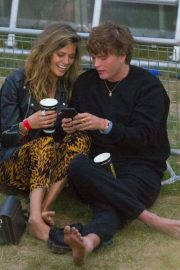Jessica Clarke and Jordan Barrett at British Summer Time in Hyde Park