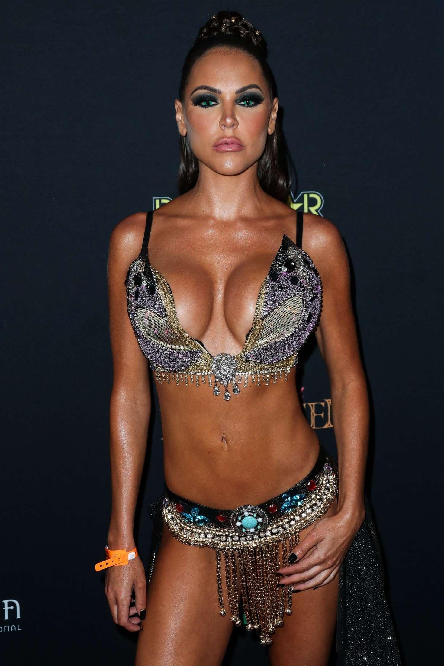 Jessica Cribbon - Karma International Kandy Halloween Party in Los Angeles