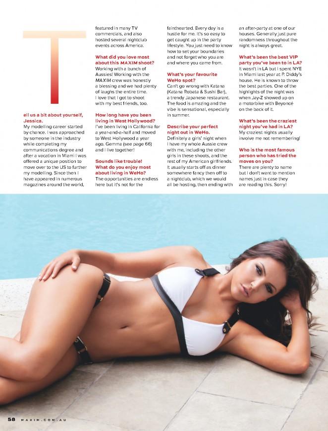 Jessica Cribbon - Maxim Australia Magazine (February 2015)