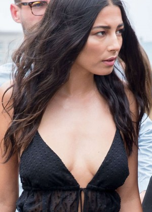Jessica Gomes - Arriving at Heidi Klum Intimates Launch in Sydney