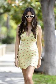 Jessica Gomes - In dress leaving the Lauren Mackellar salon in LA