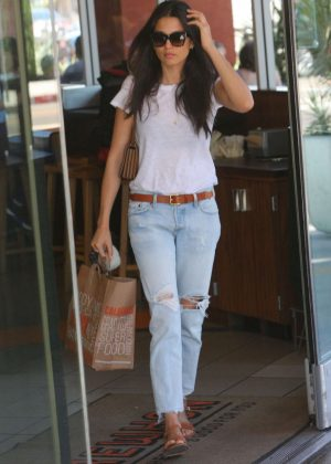 Jessica Gomes in Jeans Out For Breakfast in West Hollywood