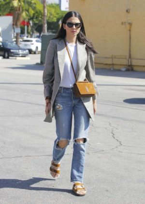Jessica Gomes in Ripped Jeans Out in Los Angeles
