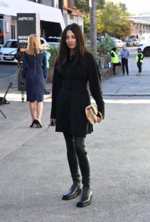 Jessica Gomes - Seen at Sydney Fashion Week at Carriageworks