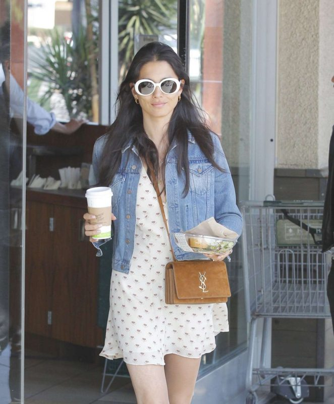 Jessica Gomes Shopping in West Hollywood