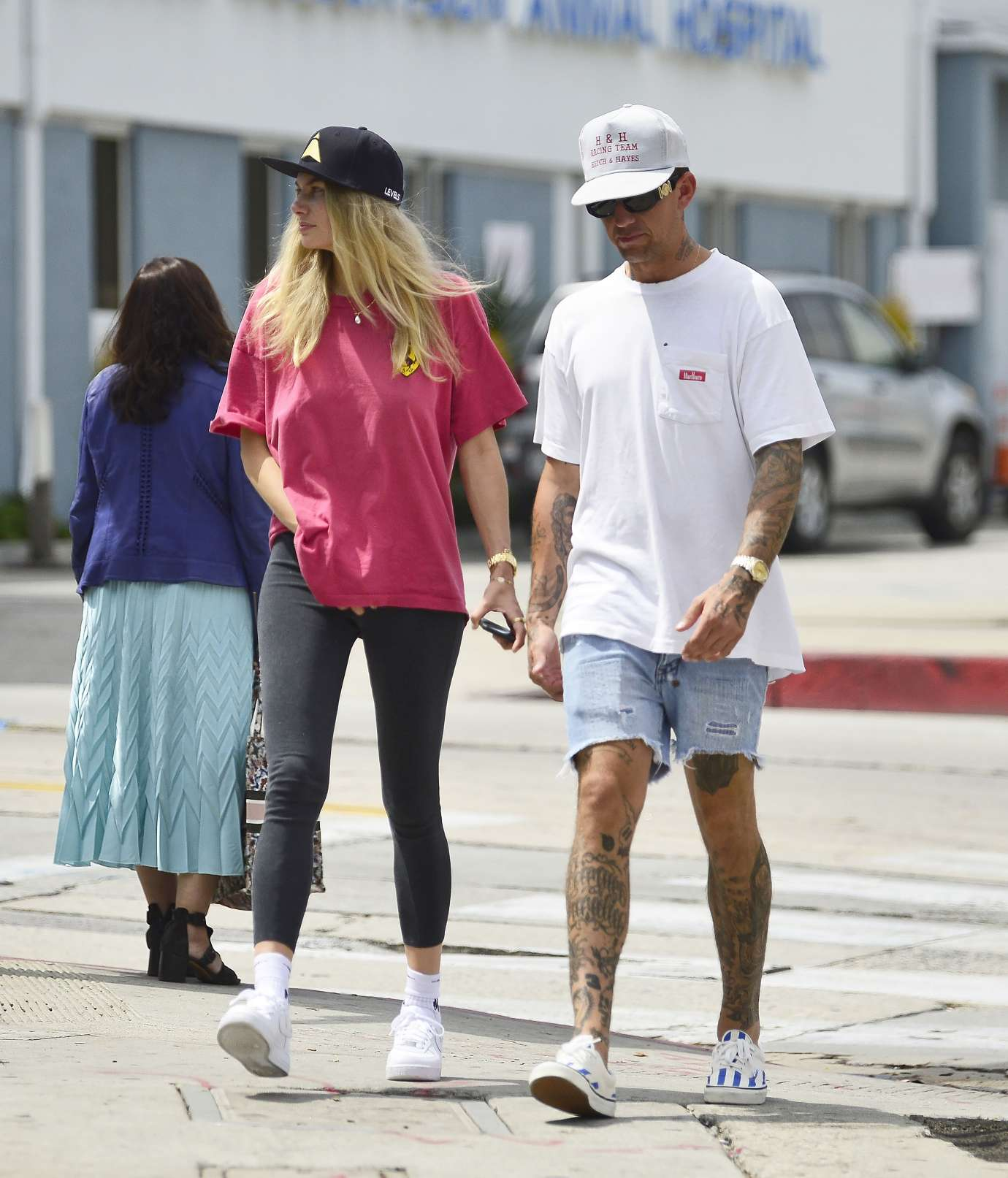 Jessica Hart 2019 : Jessica Hart and James Kirkam: Seen while take a stroll in LA-05