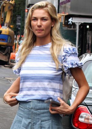 Jessica Hart at Gemma Restaurant in New York