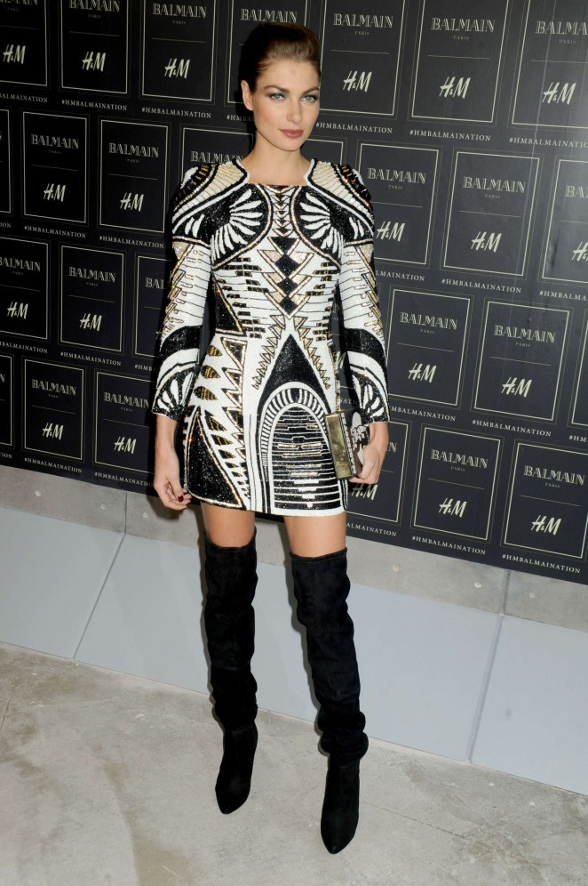 Jessica Hart - Balmain x H&M Collection Launch in NYC