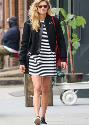 Jessica Hart in Mini Dress out in New York City